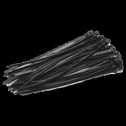 Coliere de plastic NEGRE, 140x3,5 (100 buc.), SEL.3.210