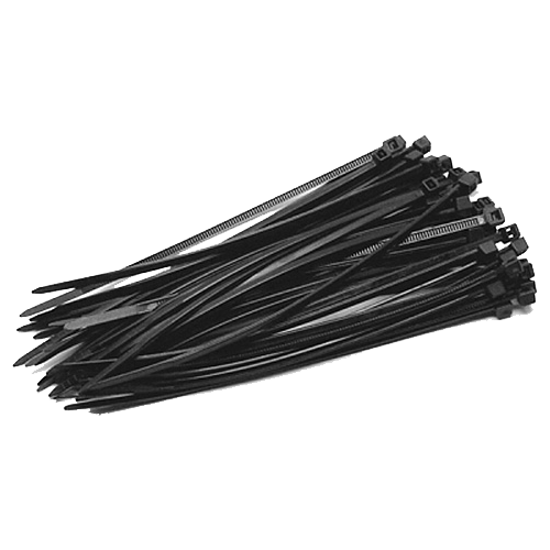Coliere de plastic NEGRE, 140x3,5 (100 buc.)