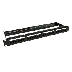 Patch Panel 1U, UTP cat6A, 24 porturi RJ45