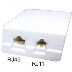 Priza dubla mixta cat5e RJ45+RJ11 (PRIZA mix cat5)